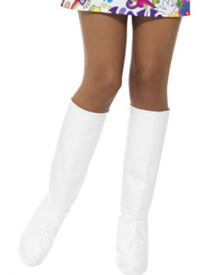 1960's/70's White GoGo Boot Covers